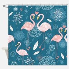 Cute Flamingos Shower Curtain