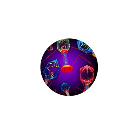 Bacteriophages - Mini Button (10 pk)