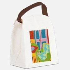 Diamond Chair and French Doors Canvas Lunch Bag