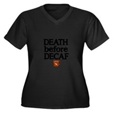 Death before Decaf 2 Plus Size T-Shirt