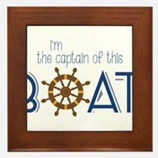 I'm The Captain Framed Tile