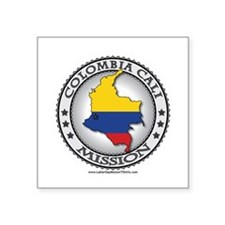 Colombia Cali LDS Mission Flag Cutout Map 1 Sticke