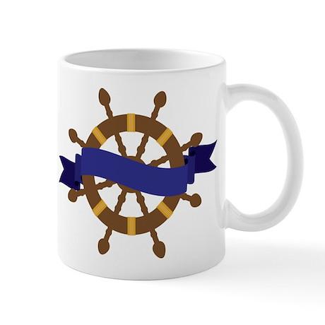 Ship Wheel Logo Mug