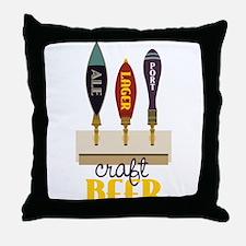Craft Beer Throw Pillow