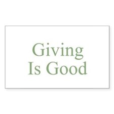 Giving Is Good Rectangle Decal