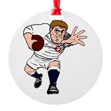 English Rugby Forward Round Ornament
