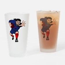 French Rugby Forward Drinking Glass