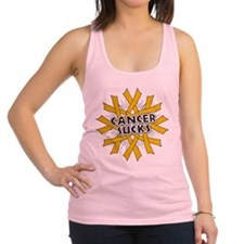Appendix Cancer Sucks Racerback Tank Top