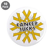 """Appendix Cancer Sucks 3.5"""" Button (10 pack)"""