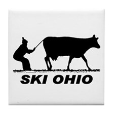 The Ski Ohio Shop Tile Coaster