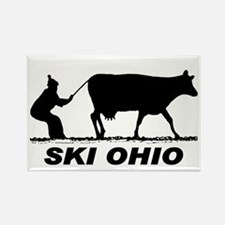 The Ski Ohio Shop Rectangle Magnet