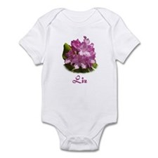 Liz: Purple Flower Infant Bodysuit