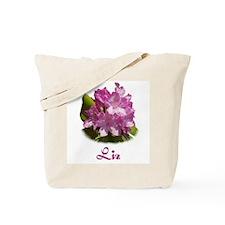 Liz: Purple Flower Tote Bag