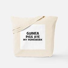 Guinea Pigs Ate My Homework Tote Bag