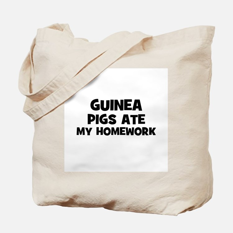 Guinea Pigs Ate My Homework Tote Bag