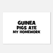 Guinea Pigs Ate My Homework Postcards (Package of
