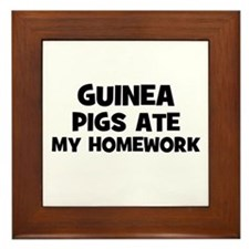 Guinea Pigs Ate My Homework Framed Tile