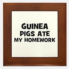 Guinea Pigs Ate My Homework Framed Tile