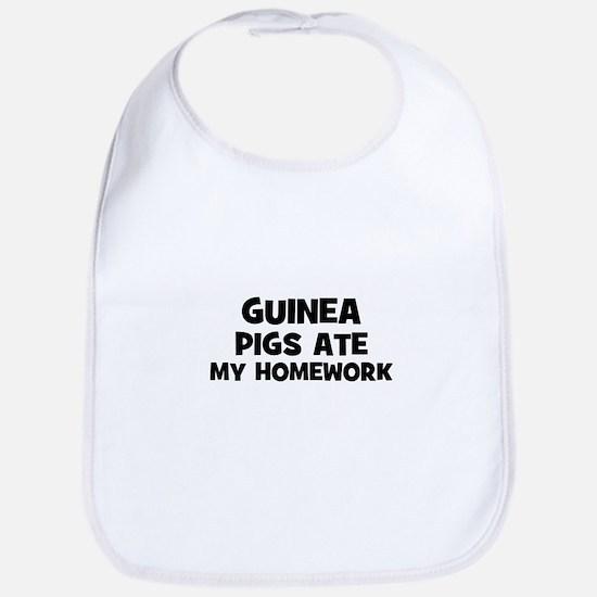 Guinea Pigs Ate My Homework Bib