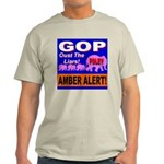 Amber Alert Oust The Liars! Ash Grey T-Shirt