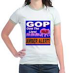 Amber Alert Oust The Liars! Jr. Ringer T-Shirt