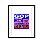 Amber Alert Oust The Liars! Framed Panel Print