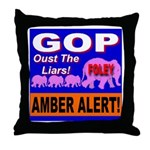 Amber Alert Oust The Liars! Throw Pillow