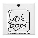 WHITE Magnetic WORLD BRIDGER Tile Coaster