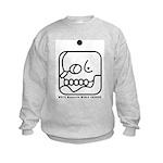 WHITE Magnetic WORLD BRIDGER Kids Sweatshirt