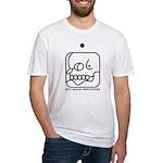 WHITE Magnetic WORLD BRIDGER Fitted T-Shirt