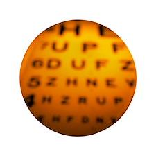 Blurred view of a Snellen eye test chart - 3.5
