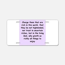 timothy8 Aluminum License Plate