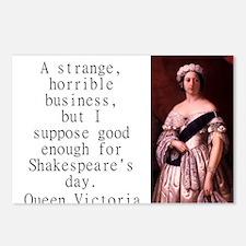 A Strange Horrible Business - Queen Victoria Postc
