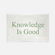 Knowledge Is Good Rectangle Magnet