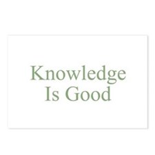 Knowledge Is Good Postcards (Package of 8)
