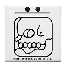 WHITE Resonant WORLD BRIDGER Tile Coaster
