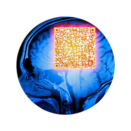 Brain MRI scan with Alzheimer's QR code - 3.5