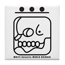 WHITE Galactic WORLD BRIDGER Tile Coaster