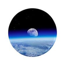 Moon rising over Earth's horizon - 3.5