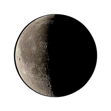 Waning crescent Moon - 3.5