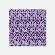 "Cerulean & Alyssum Damask Square Sticker 3"" x 3"""