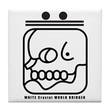 WHITE Crystal WORLD BRIDGER Tile Coaster