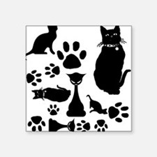 Black Cat Collage Sticker
