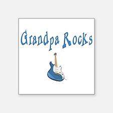 Grandpa Rocks Rectangle Sticker