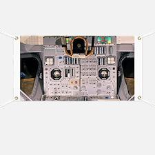 Apollo Lunar Module interior - Banner