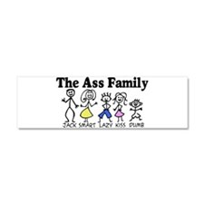 The Ass Family Car Magnet 10 x 3