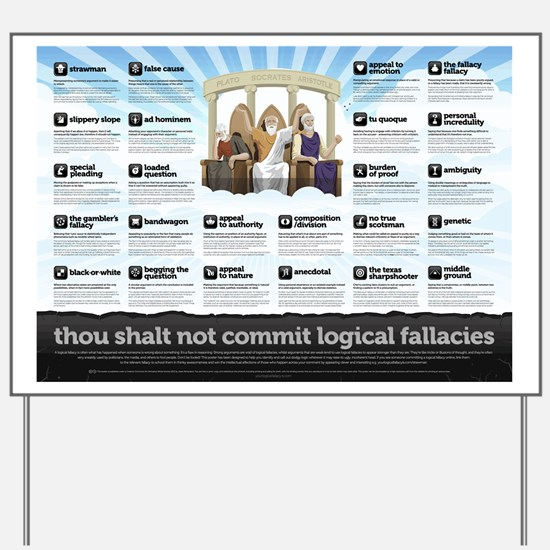 Religious Logical Fallacies Yard Sign