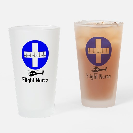 flight nurse 2013 blie lights Drinking Glass
