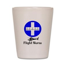 flight nurse 2013 blie lights Shot Glass