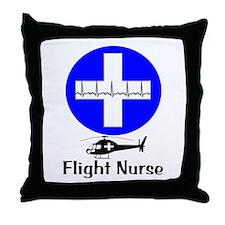 flight nurse 2013 blie lights Throw Pillow